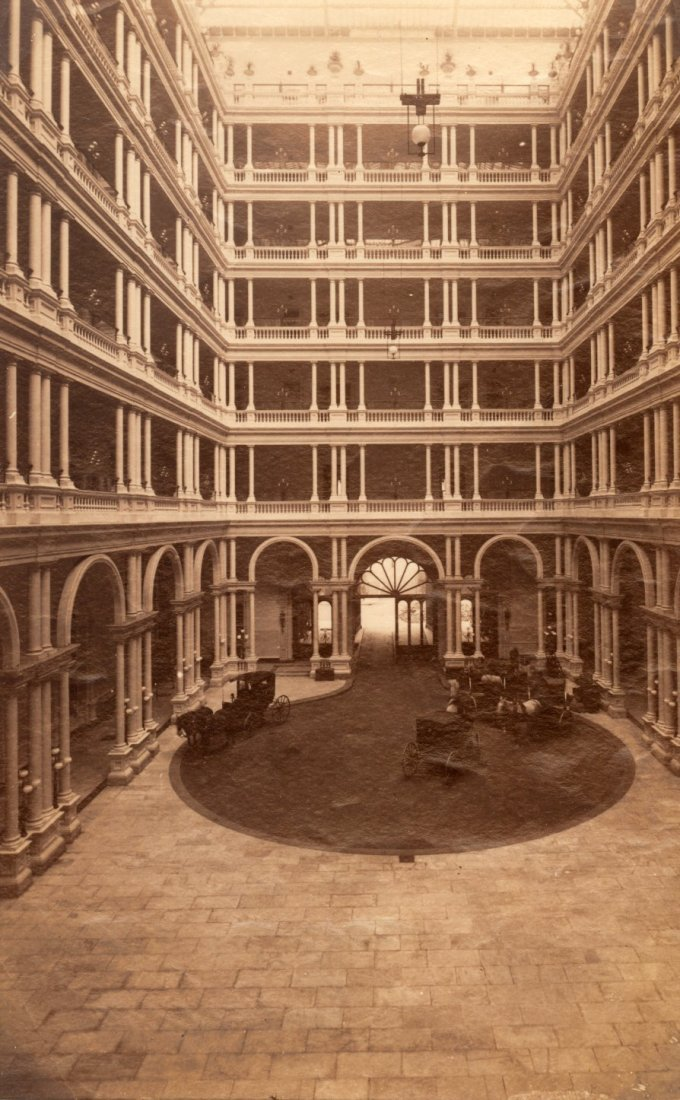 Interior Court of Palace Hotel San Francisco, c1875