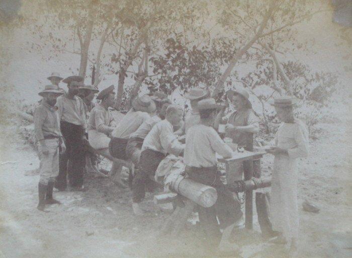 Dinner at Ianou, Friendly Isles. c1890