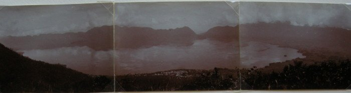 3 Part Panorama of Sumatra. c1950