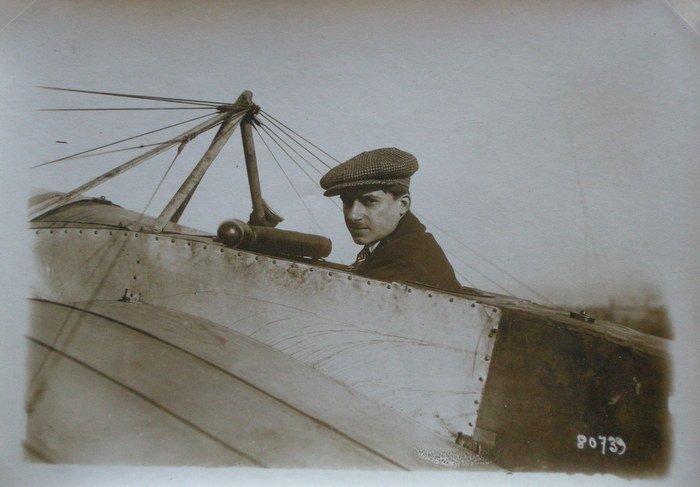 Eugene Gilbert flying Deperdussin Moocoque. C1913