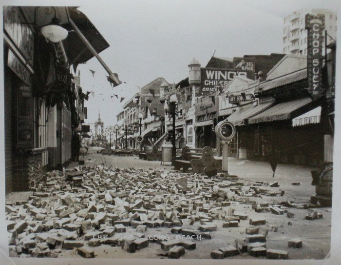 Destruction on Pike, Long Beach Earthquake. c1933