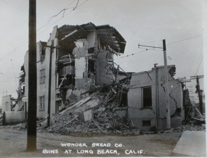 Wonder Bread Co. Ruins, Long Beach Earthquake. c1933