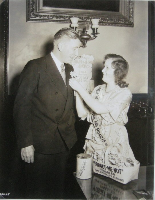 Lucille Anderson with Gov. Olson of Minnesota. c1932
