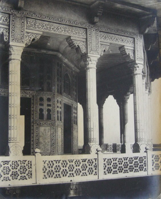 Jasmine Tower, looking toward the Taj, Agra. c1920