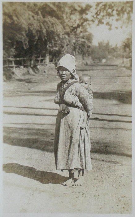Korean Peasant Girl and Child