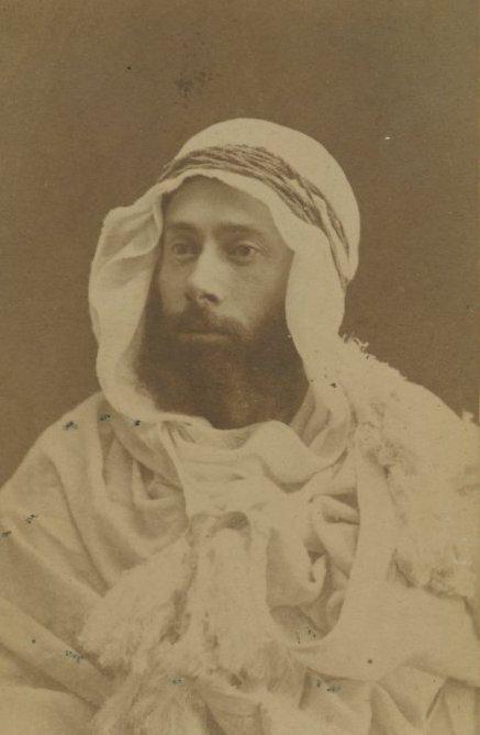 CDV of Caucasian in Arab Attire, Egypt. c1875