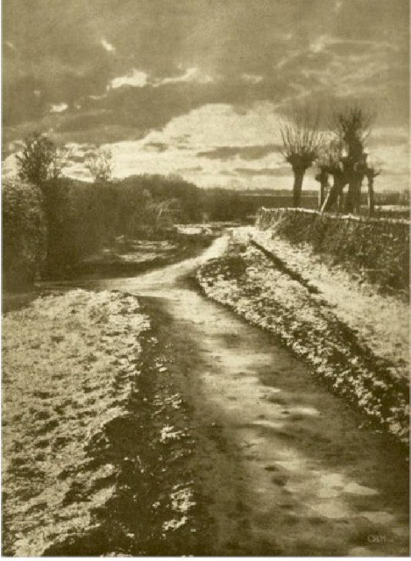 Last Snow Ð Photogravure by Otto Scharf. C1901