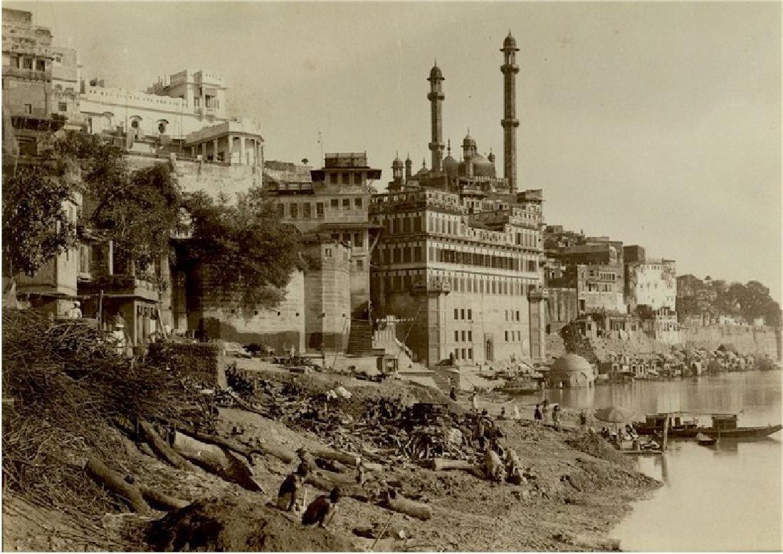 Benares,  the Great Mosque of Aurunzebe. c1866