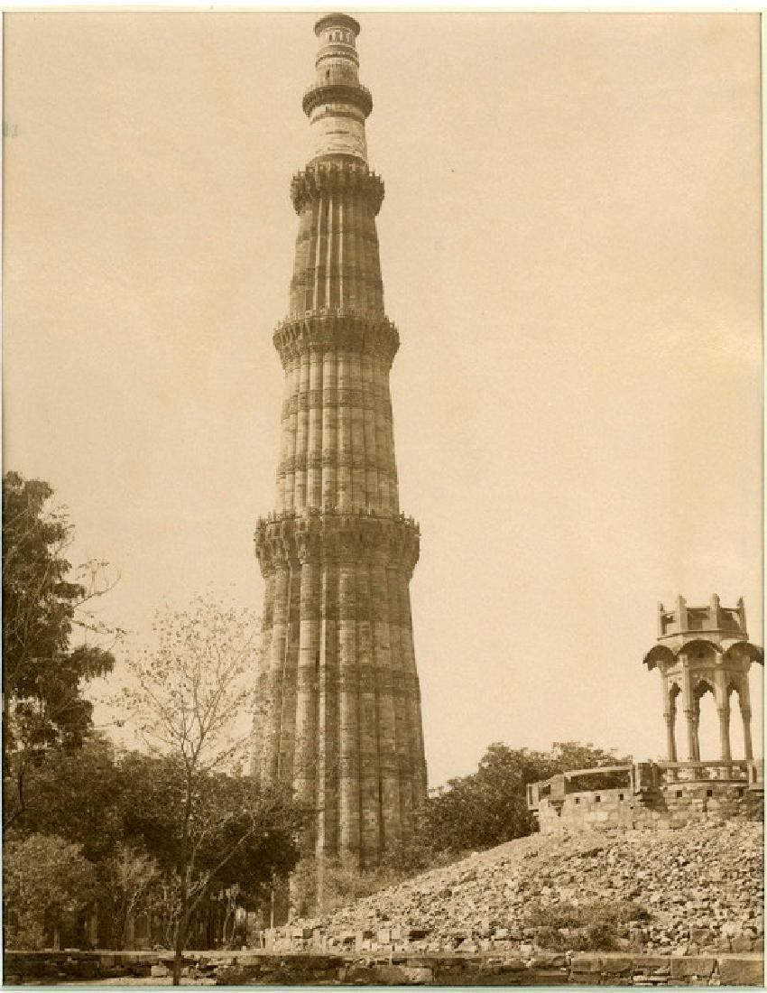 Delhi - The Kutub Minar, India. c1890