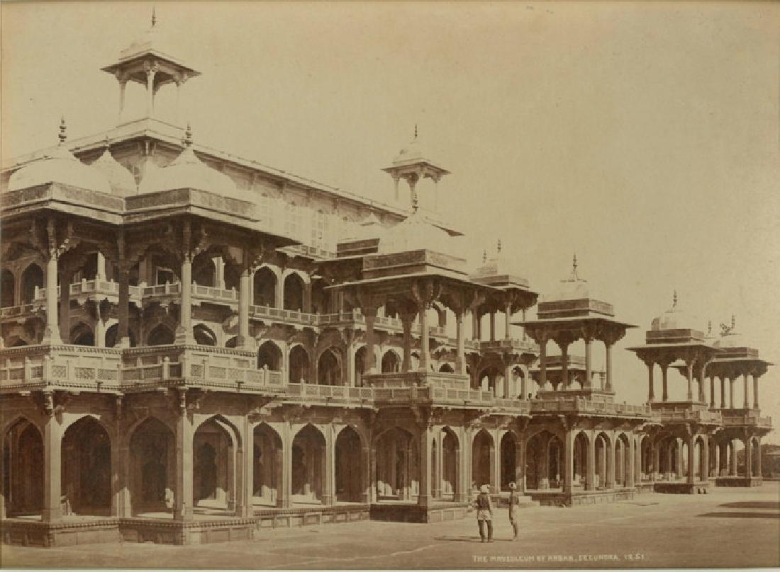 Secundra - The Mausoleum of Akbar. C1868