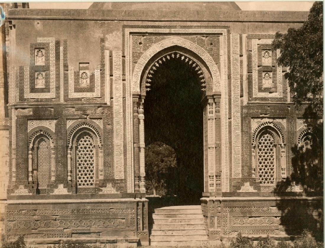 Gateway to the Kutub Minar, Delhi. C1875
