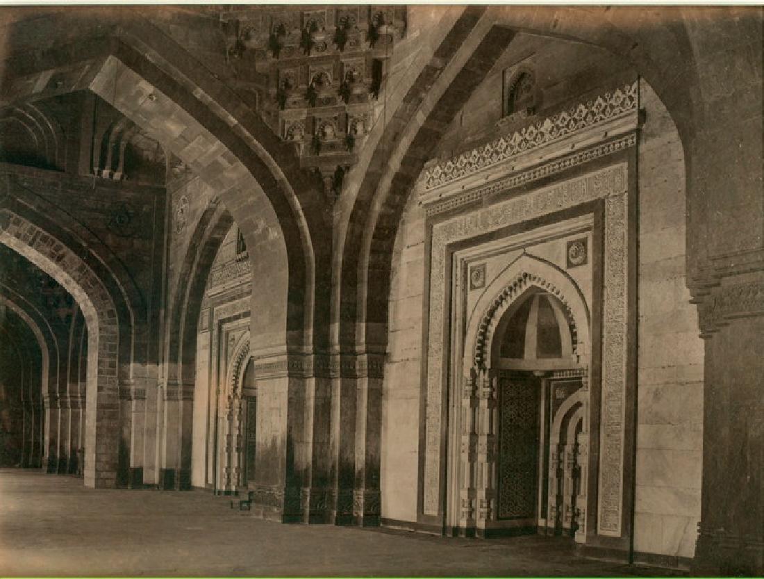 Kila Kona. Pathan Mosque, Old Fort, Delhi. C1868