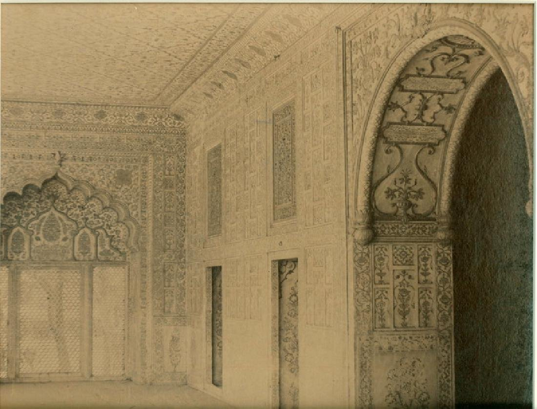 Detail of Interior of the Palace, Delhi. C1870