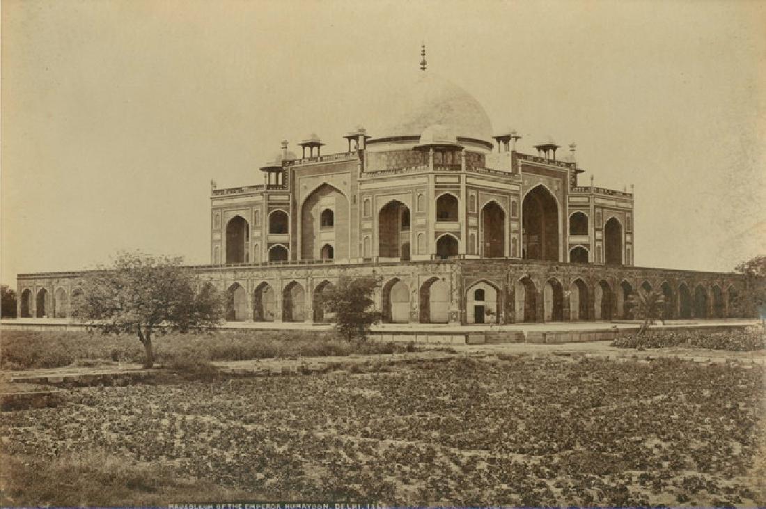 Delhi - Mausoleum of the Emperor Humayoon. C1865