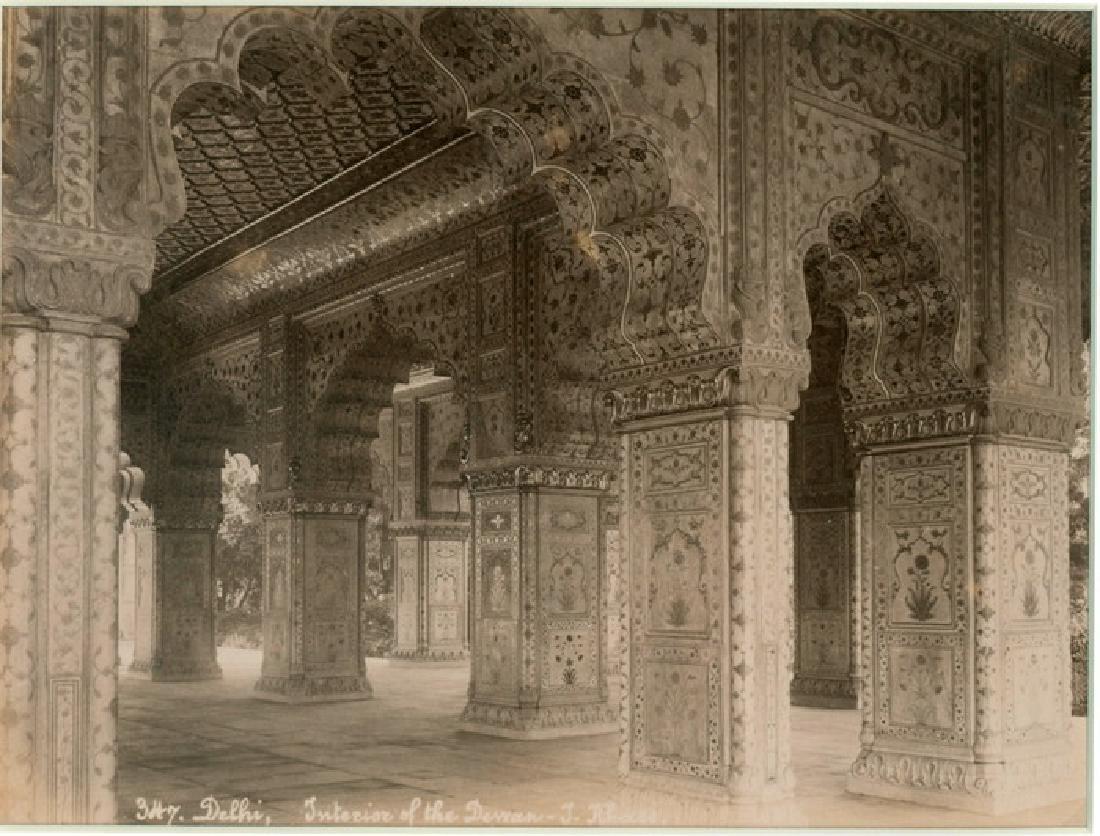 Interior of the Palace of Dewan-i-Kass, Delhi. C1880