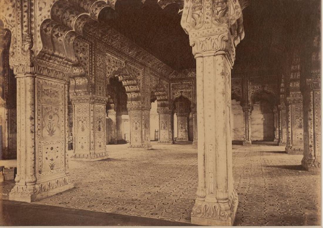 Delhi - The Palace, Interior of the Dewan-i-Kas. c1865
