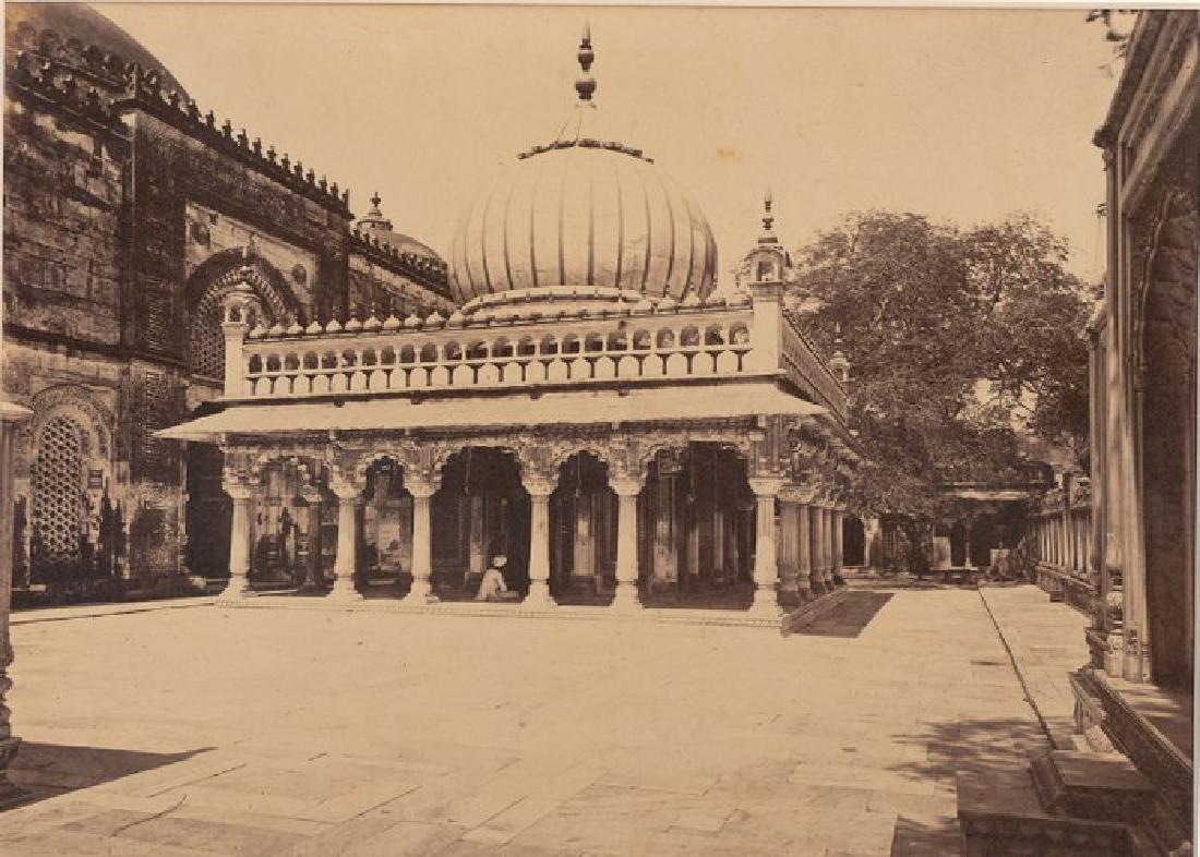 Delhi - Tomb of Nizam-Ood-Deen. c1865