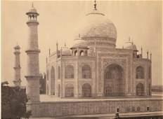 Agra - The Taj from the Corner of the Quadrangle. c1865