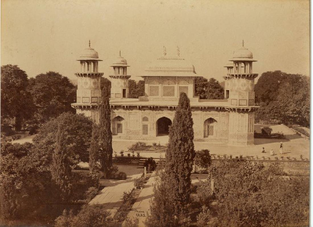 Agra - The Mausoleum of Prince Etmad-Dowlah. c1865