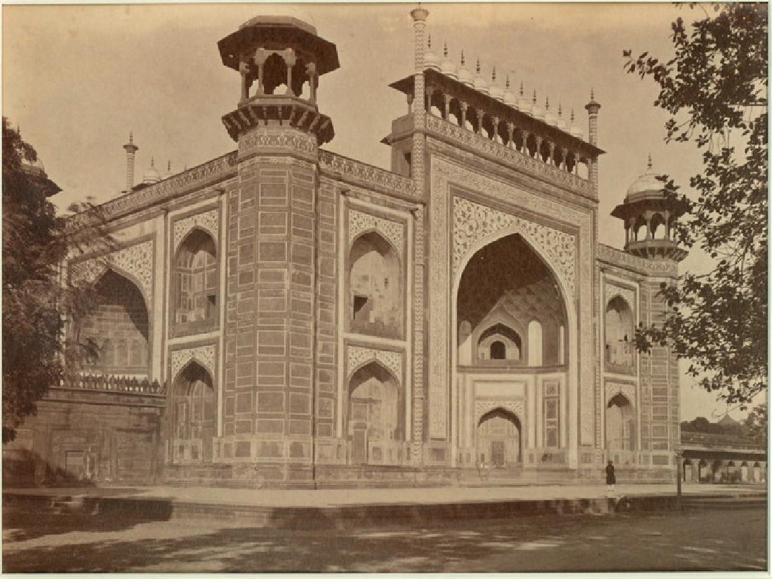 The Gate of the Taj, Agra. C1868