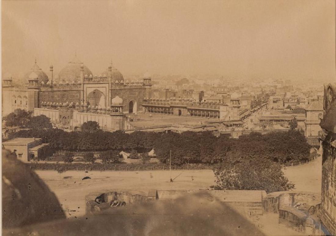 Agra - Jumma Musjid from the Fort. c1865