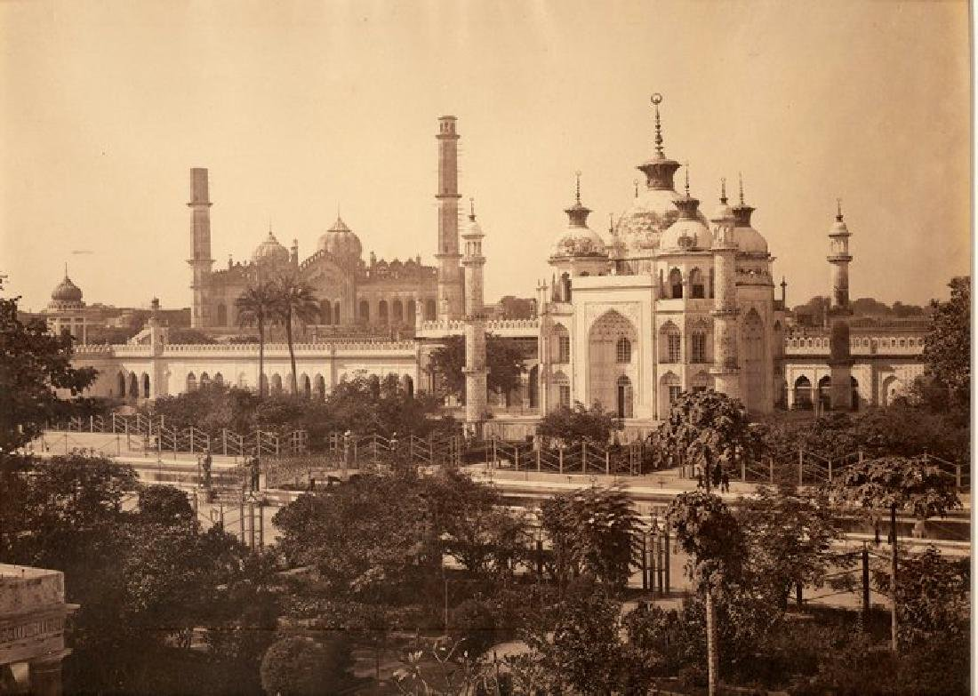 Lucknow - View from the Terrace of the Hooseinabad