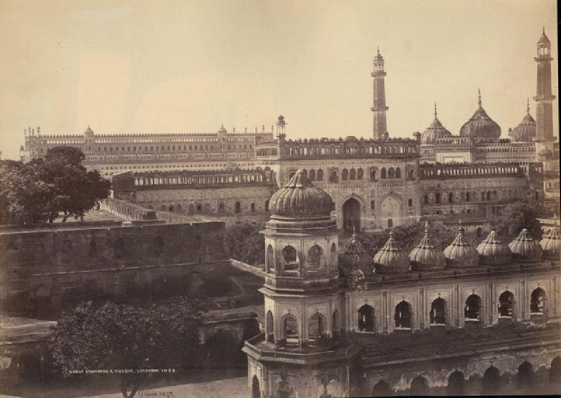 Lucknow - Great Emambara and Mosque. c1865