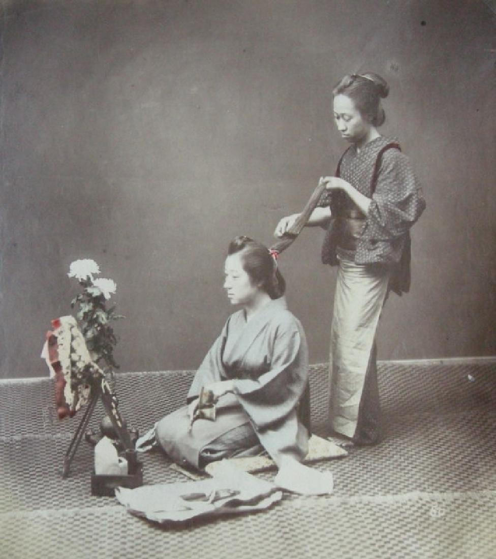 Japanese hairdresser. c1890