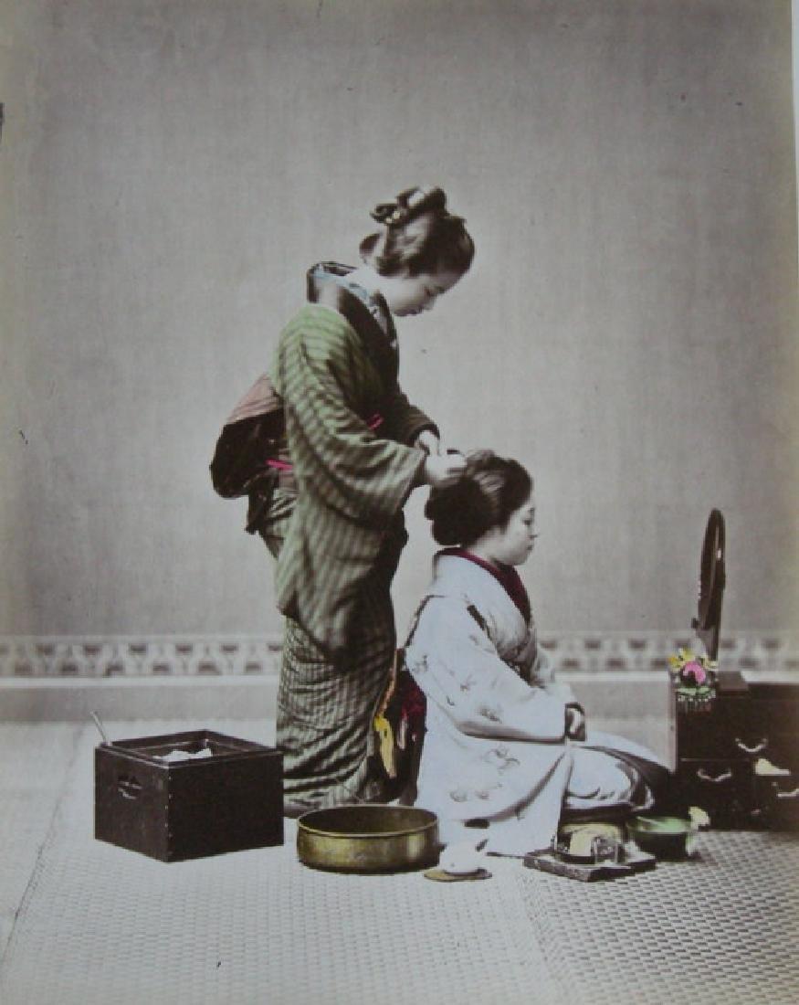 Japanese hairdresser. C1880