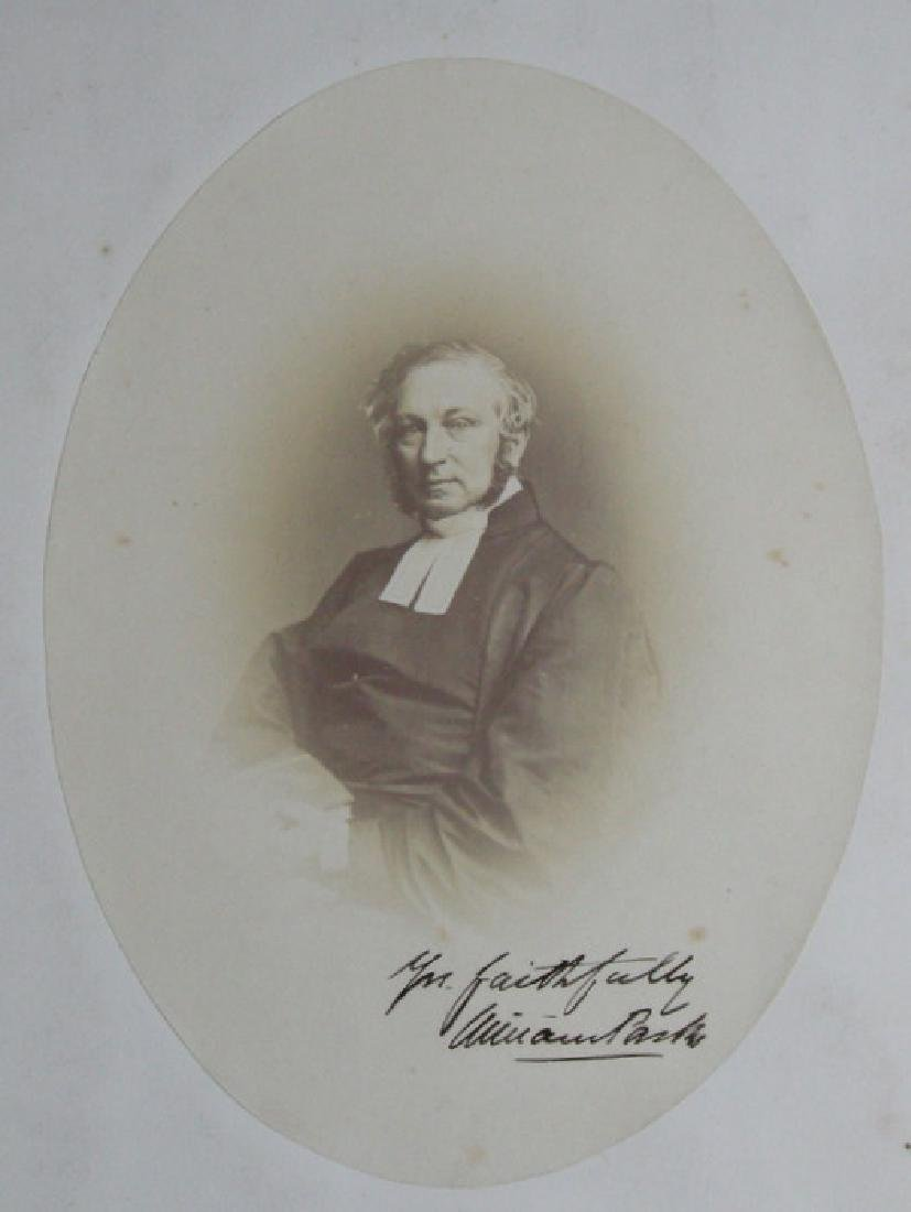 Hand-signed Portrait of William Parks. C1855.