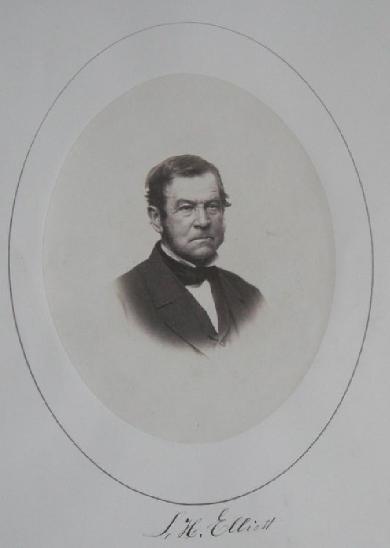 Hand-signed Portrait of S. H. Elliott. C1855.