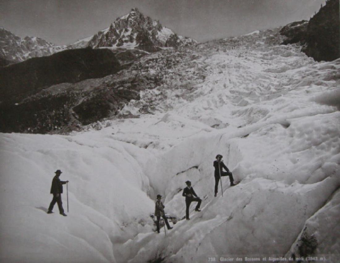 Photochrome of the Bossons Glacier. c1900