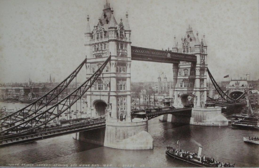 Opening of Tower Bridge, London. 1894