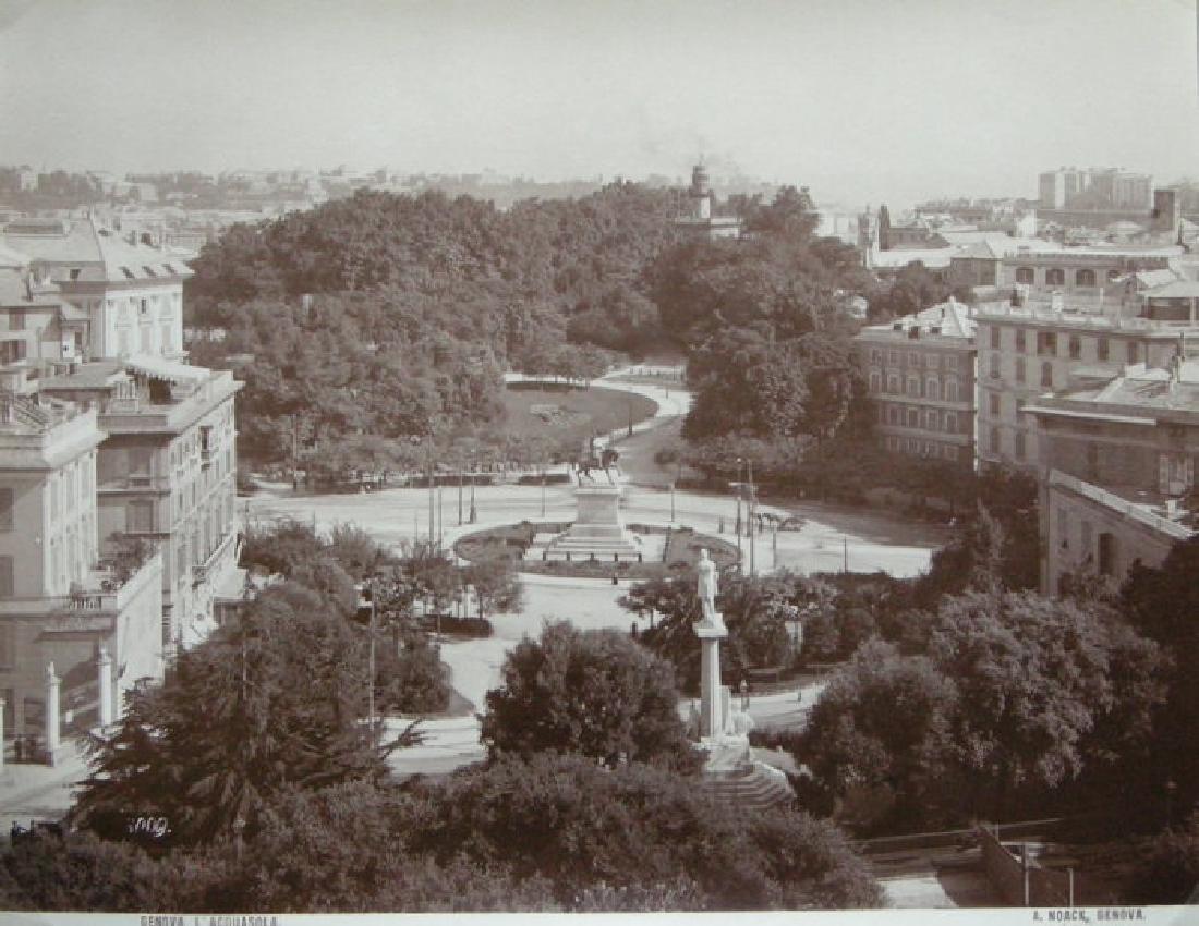 The Acquasola, Genoa, Italy. c1890
