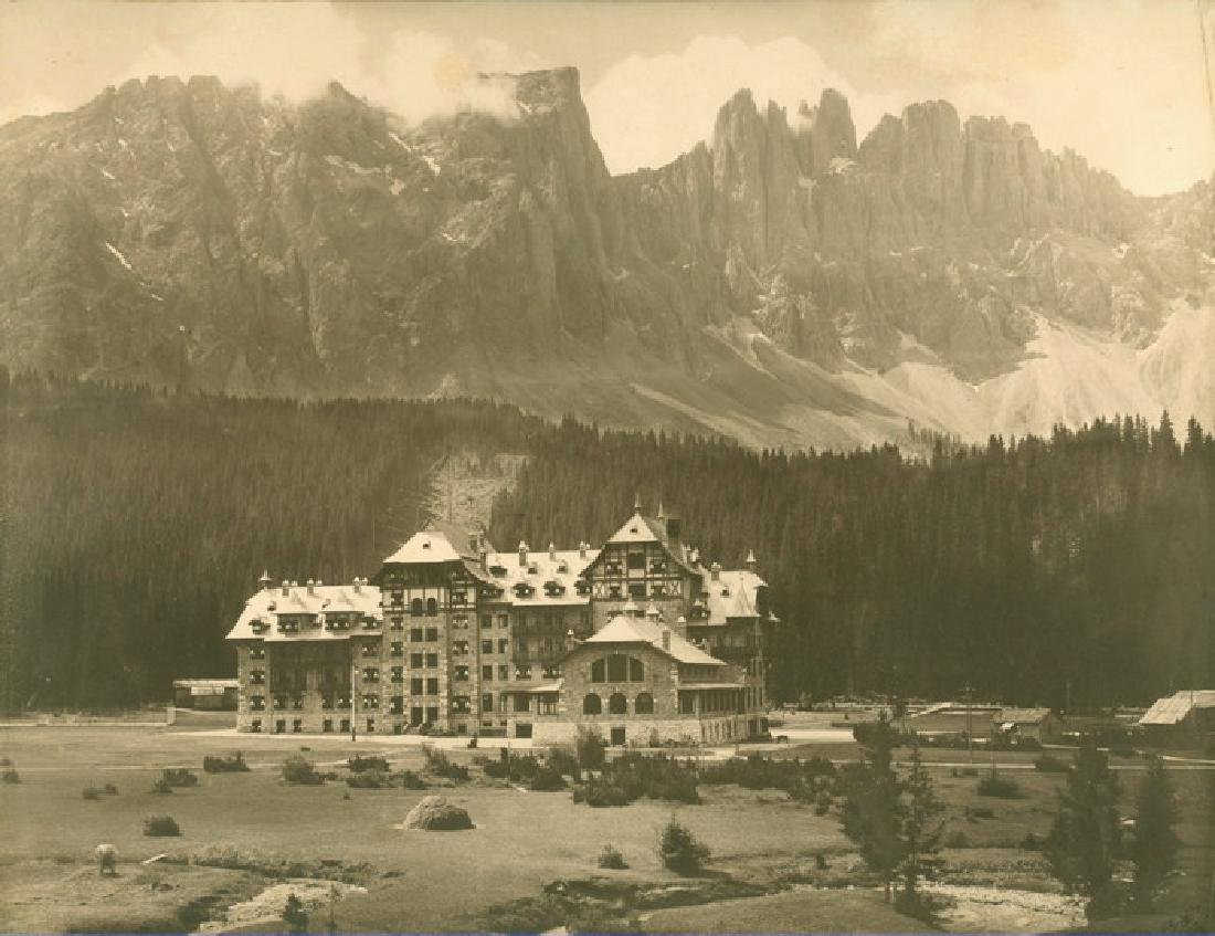 Towering Mountains in Eggenthal, Germany. c1903