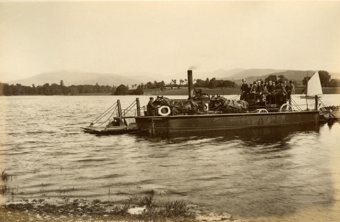 Stagecoach on the Bowness Ferry, Windermere, Lake