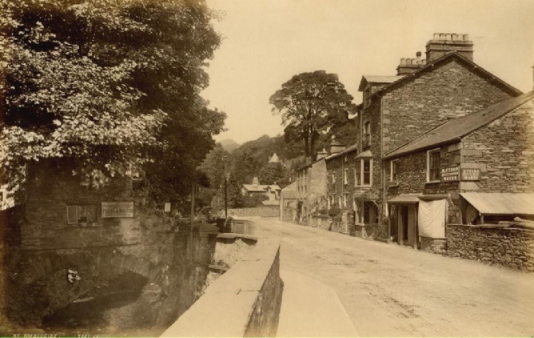 Old Bridge House at Ambleside, Lake District. c1882