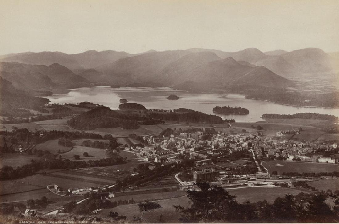 Keswick & Derwentwater, Lake District, England. c1890