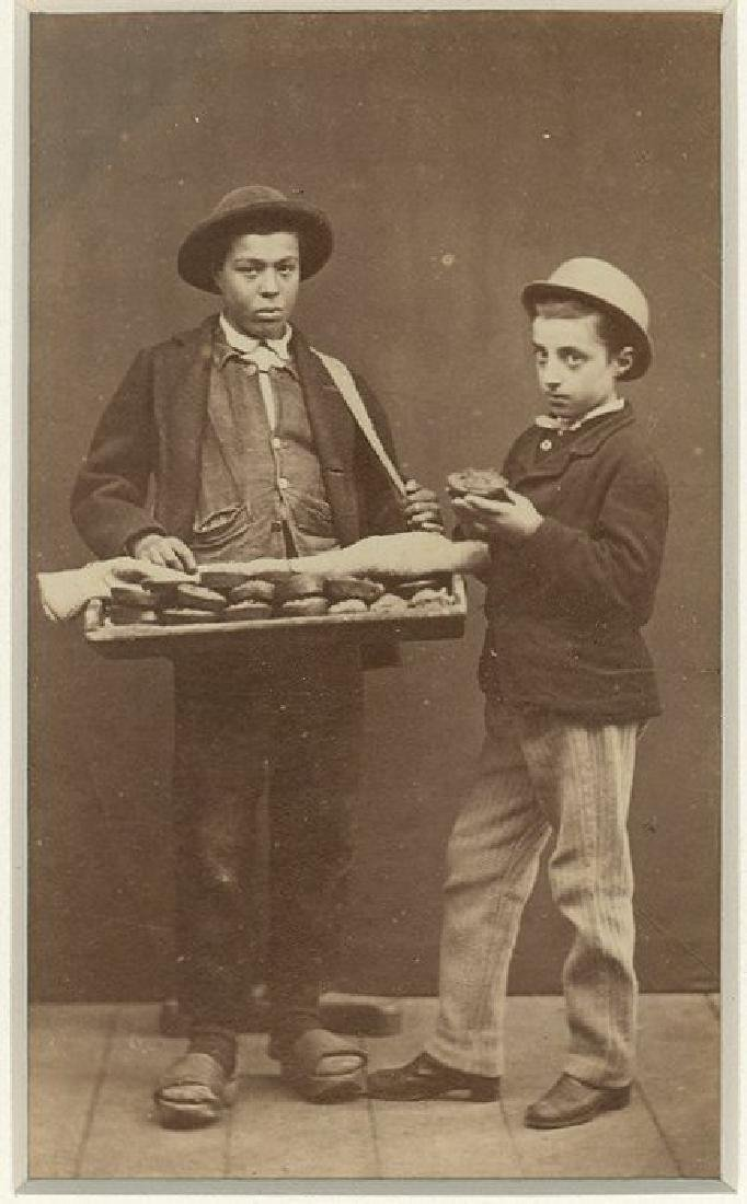Carte de visite of The Pie Seller by Carlo Ponti .