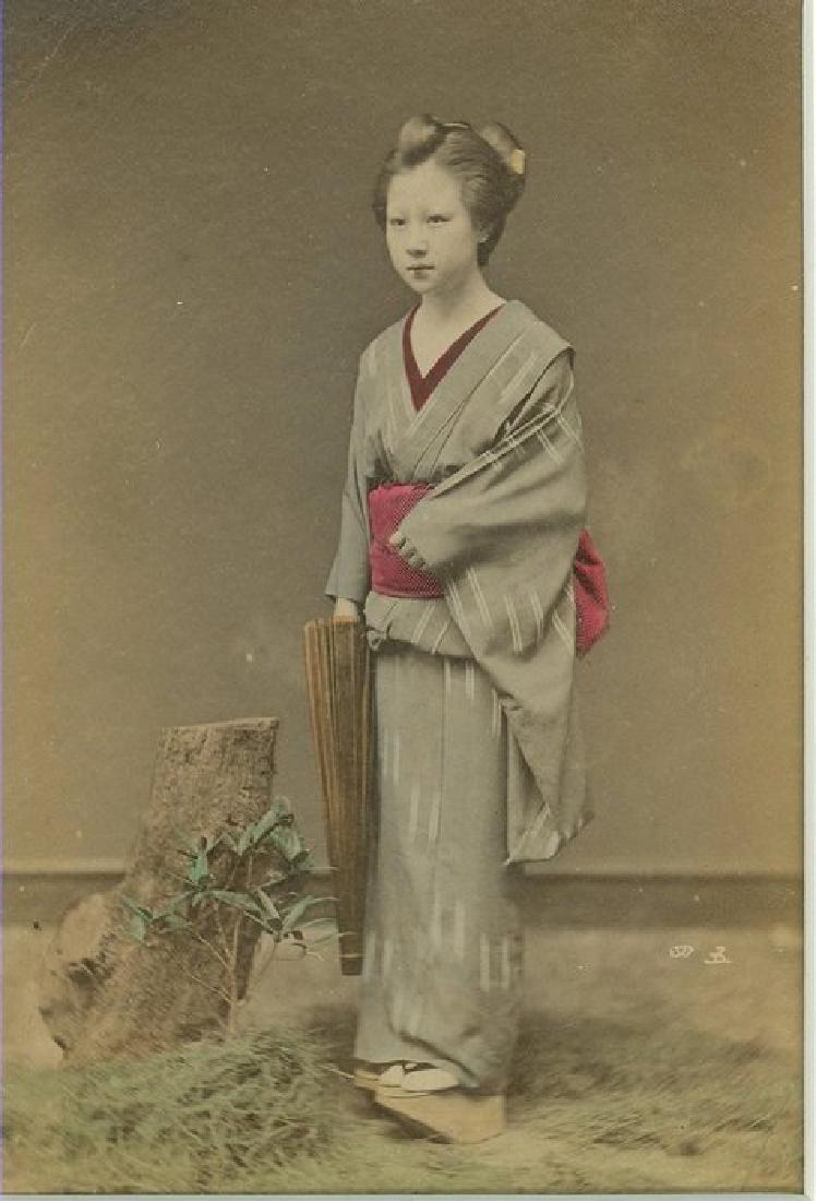 Maeko with Umbrella, Japan. c1890
