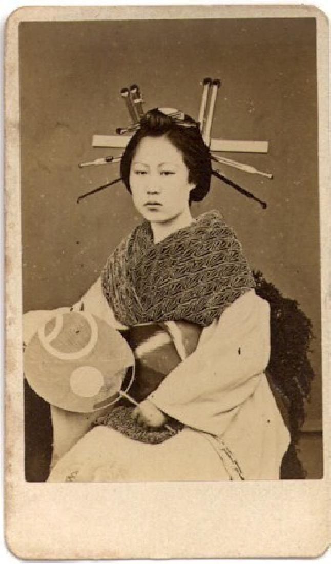 Rare CDV of a Japanese Prostitute. c1870