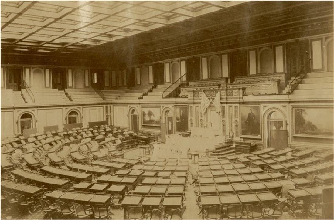 Interior of the House of Representatives, c1880