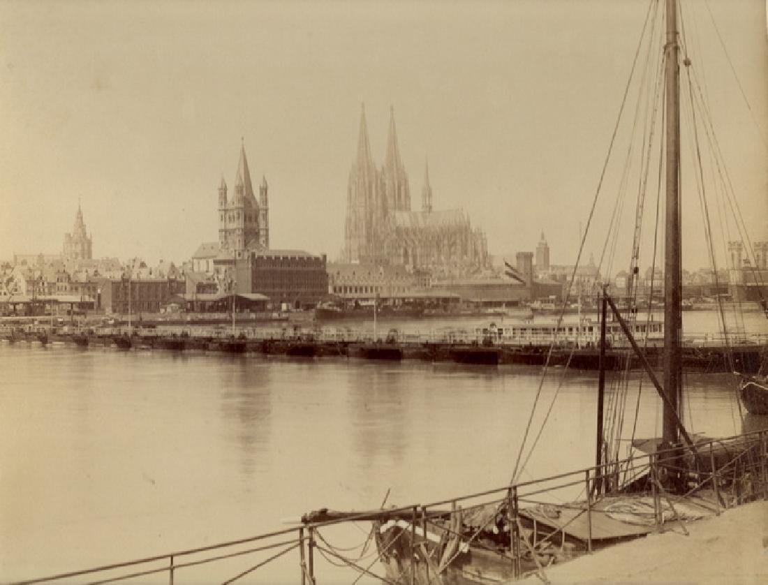 Panorama of Cologne Cathedral, Germany. c1870