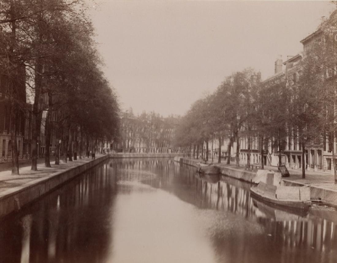 Millionaire's Street in Amsterdam. c1880