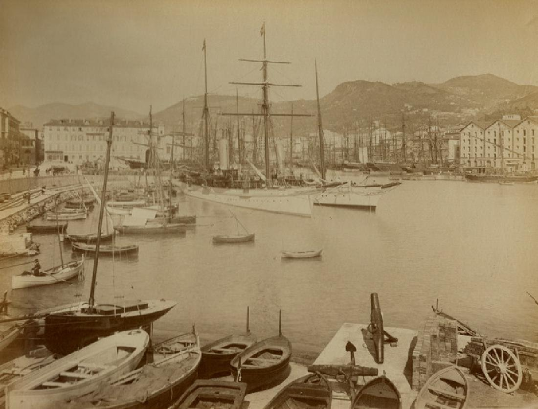 Nice, France, the Port. c1880