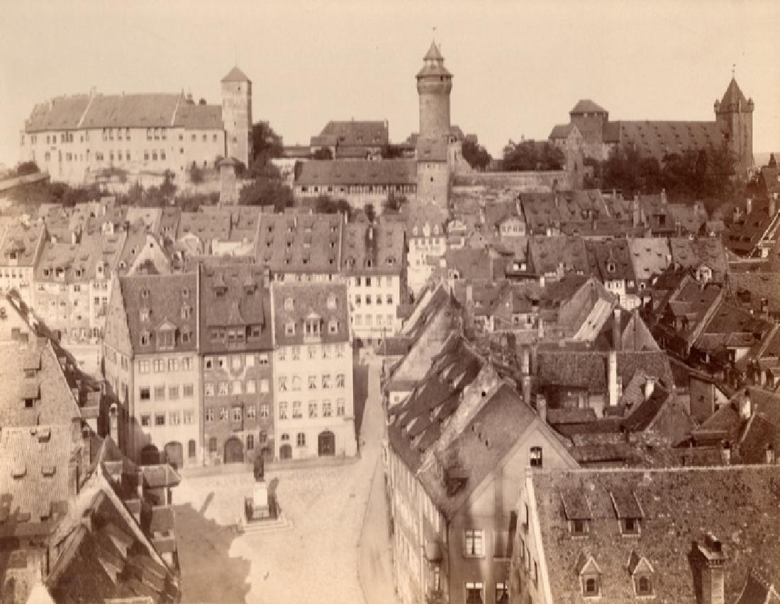 Medieval Nuremberg, Germany. c1875