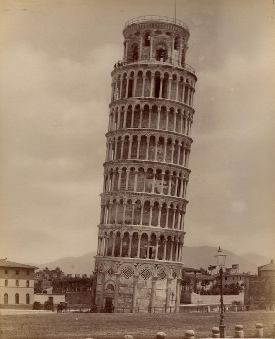 The Leaning Tower of Pisa. c1875