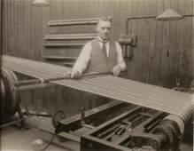 Man working a Loom. c1950