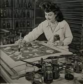 Silk-screen preparation.  c1960