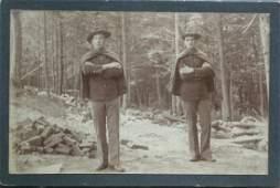 Bald Headed Gang, Fort McKinley, Maine. C1903.